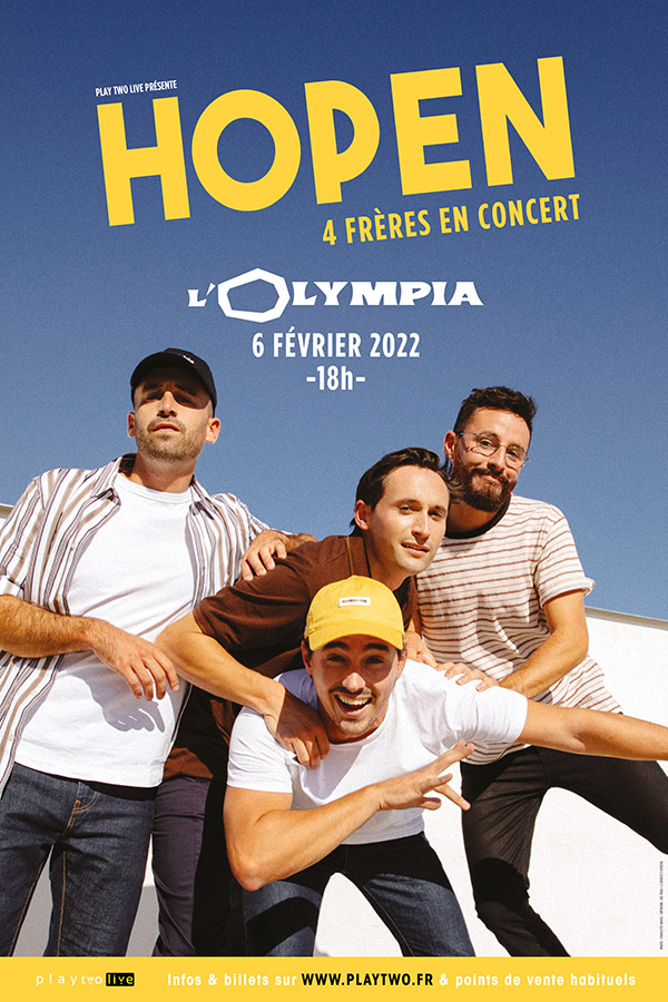 Hopen en concert à l'Olympia (Paris) le 6 février 2022